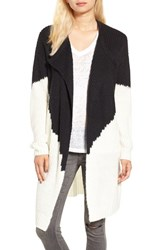 Sun And Shadow Women's Colorblock Knit Cardigan