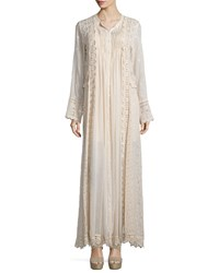 Johnny Was Long Sleeve Vintage Prairie Maxi Dress Champagne