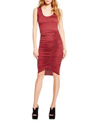 Jessica Simpson Ruched Knit Dress Chocolate