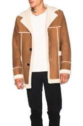Loewe Shearling Coat In Brown