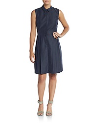 Yigal Azrouel Sleeveless Shirtdress Midnight