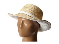 Kate Spade Color Blocked Asymmetrical Sun Hat Fresh White Traditional Hats Multi