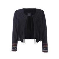 Lea Lov Lilly Jacket Hunter Embroidery In Black