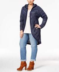 Styleandco. Style Co. Plus Size Open Front Hooded Cardigan Only At Macy's Indigo Blue