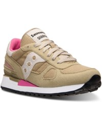 Saucony Women's Shadow Vegan Casual Sneakers From Finish Line Tan