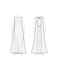 Customize Lengthen Front Of Cape Fame And Partners Long Chiffon Overlay Cape Dress White