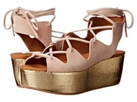 See By Chloe Sb24200 Poudre Women's Wedge Shoes Pink