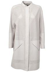 Maison Ullens Perforated Midi Coat Nude And Neutrals