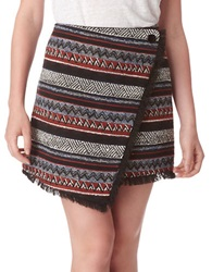 Sam Edelman Hope Striped Foldover Mini Skirt Multi