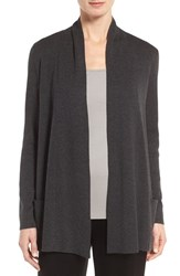 Eileen Fisher Women's Tencel And Organic Cotton Blend Cardigan Charcoal