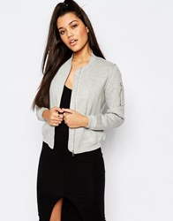 Missguided Jersey Bomber Gray