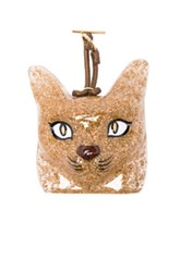 Loewe Cat Face Charm In Metallics