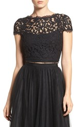 Adrianna Papell Women's Lace Crop Top