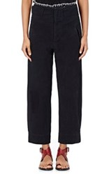 Etoile Isabel Marant Women's Isaac Cotton Linen Pants Dark Grey