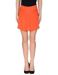 Borbonese Mini Skirts Orange