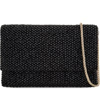 Reiss Minty Embellished Clutch Black