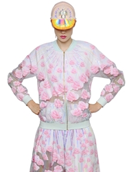 Manish Arora Embellished Crepe And Organza Jacket Withe Pink