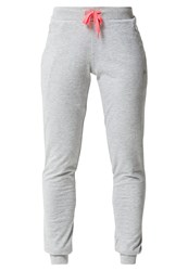 Only Play Onparlette Tracksuit Bottoms Light Grey Melange Hot Pink