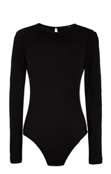 Tibi Wool Jersey Shirred Bodysuit