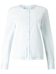 Hugo Boss Bjrna Peplum Shirt Powder Blue