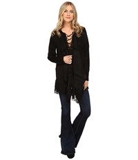 Catherine Malandrino Fringe Jacket Blackbird Women's Coat