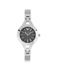 Emporio Armani Women's Classic Stainless Steel Mesh Bracelet Watch Silver