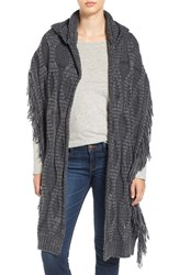 Free People Women's Hooded Cable Knit Wrap