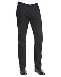 John Varvatos Coated Bowery Slim Straight Jeans Black