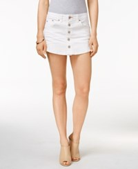 Dittos Button Front White Wash Denim Skort
