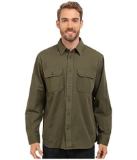 Filson Chino Shirt Olive Men's Long Sleeve Button Up