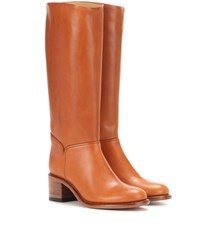A.P.C. Iris Leather Boots Brown