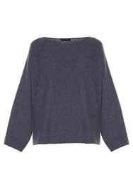 The Row Minola Oversized Knit Sweater Dark Grey
