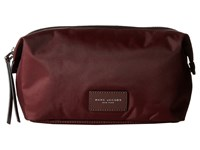 Marc Jacobs Nylon Biker Cosmetics Large Landscape Pouch Rubino Handbags Red
