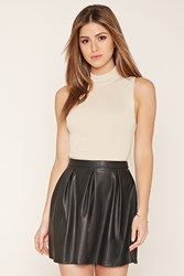 Forever 21 Faux Leather A Line Skirt