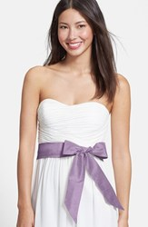 Women's L. Erickson Silk Charmeuse Medium Sash Lilac Sugar