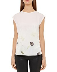 Ted Baker Frema Pearly Petal Tee Nude Pink