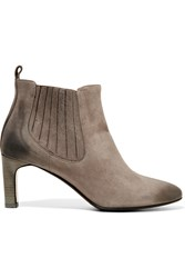 Bruno Magli Suede Ankle Boots Gray