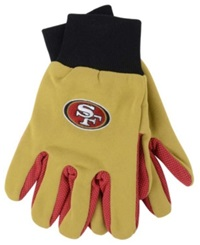 Forever Collectibles San Francisco 49Ers Palm Gloves Red