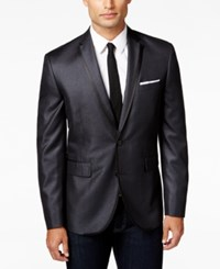 Bar Iii Men's Black Shiny Slim Fit Dinner Jacket Only At Macy's