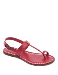 Bernardo Maverick Leather Toe Ring Sandals Red