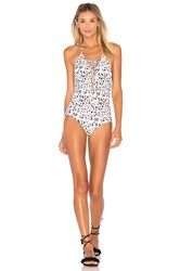 Aila Blue Spirit Lace Up Fringe One Piece Cream
