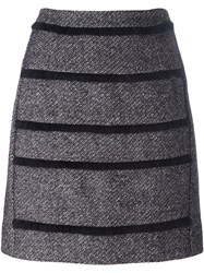 Sonia Rykiel By Striped A Line Skirt Blue