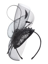 Linea Jazz Diamante Pill Box Fascinator Black