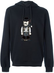 Dolce And Gabbana Cowboy Patch Hoodie Black