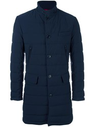 Fay Fitted Padded Coat Blue