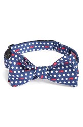Vineyard Vines Men's 'Polka Dot Whale' Print Silk Bow Tie Blue Vineyard Navy