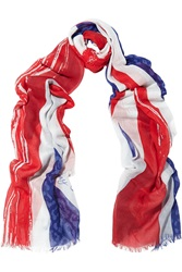 Jimmy Choo Soho Printed Cotton And Cashmere Blend Scarf