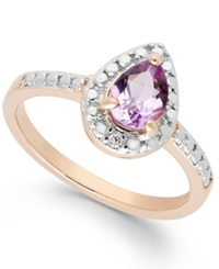 Victoria Townsend Pink Amethyst 5 8 Ct. T.W. And Diamond Accent Ring In 18K Rose Gold Over Sterling Silver