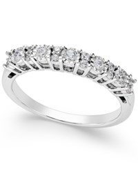 Trumiracle Diamond Anniversary Band 1 4 Ct. T.W. In 14K White Gold