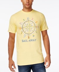 Club Room Men's Compass Graphic Print T Shirt Only At Macy's Banana
